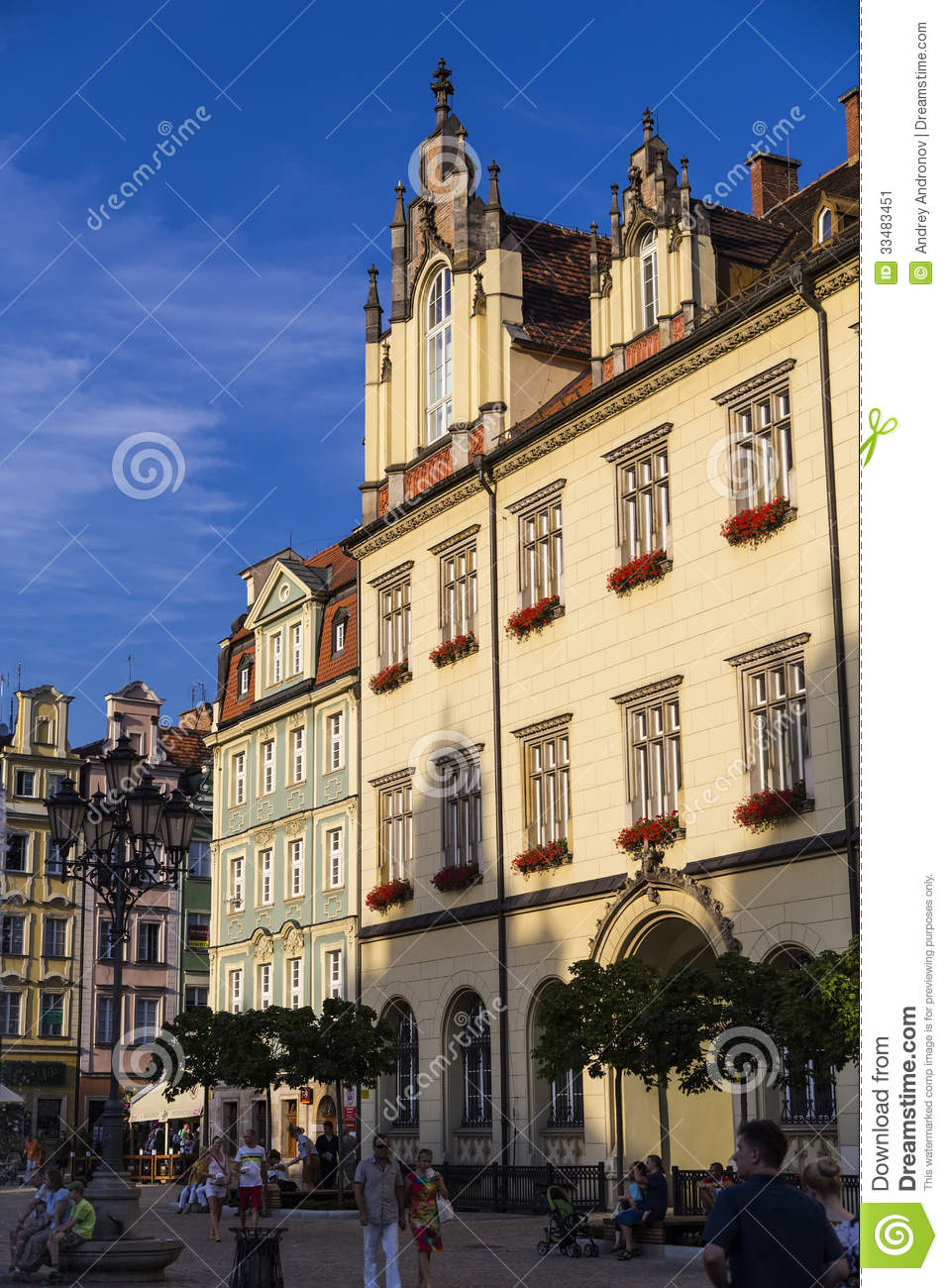 The Historic Center Of Wroclaw Editorial Photo Image