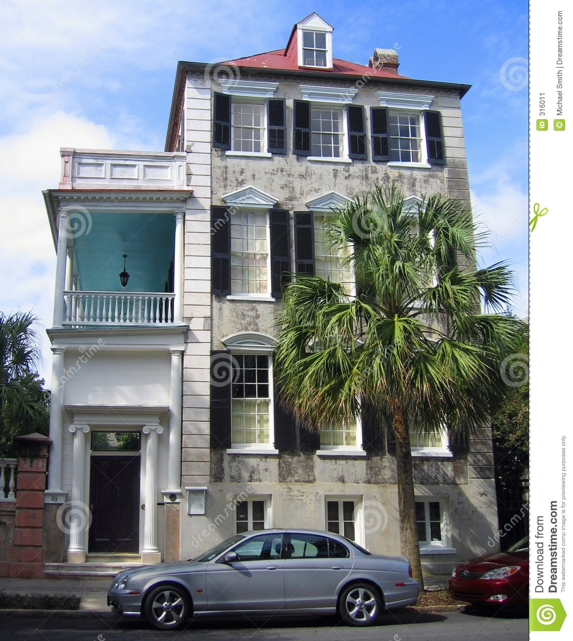 Historic Charleston House Stock Image Image 316011
