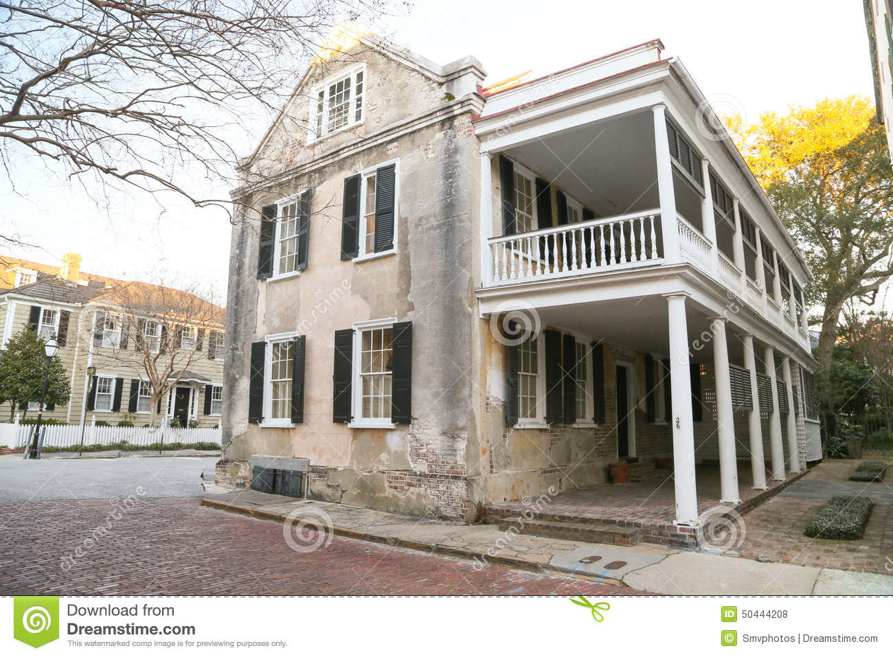 Historic Charleston Style Home Stock Photo Image 50444208