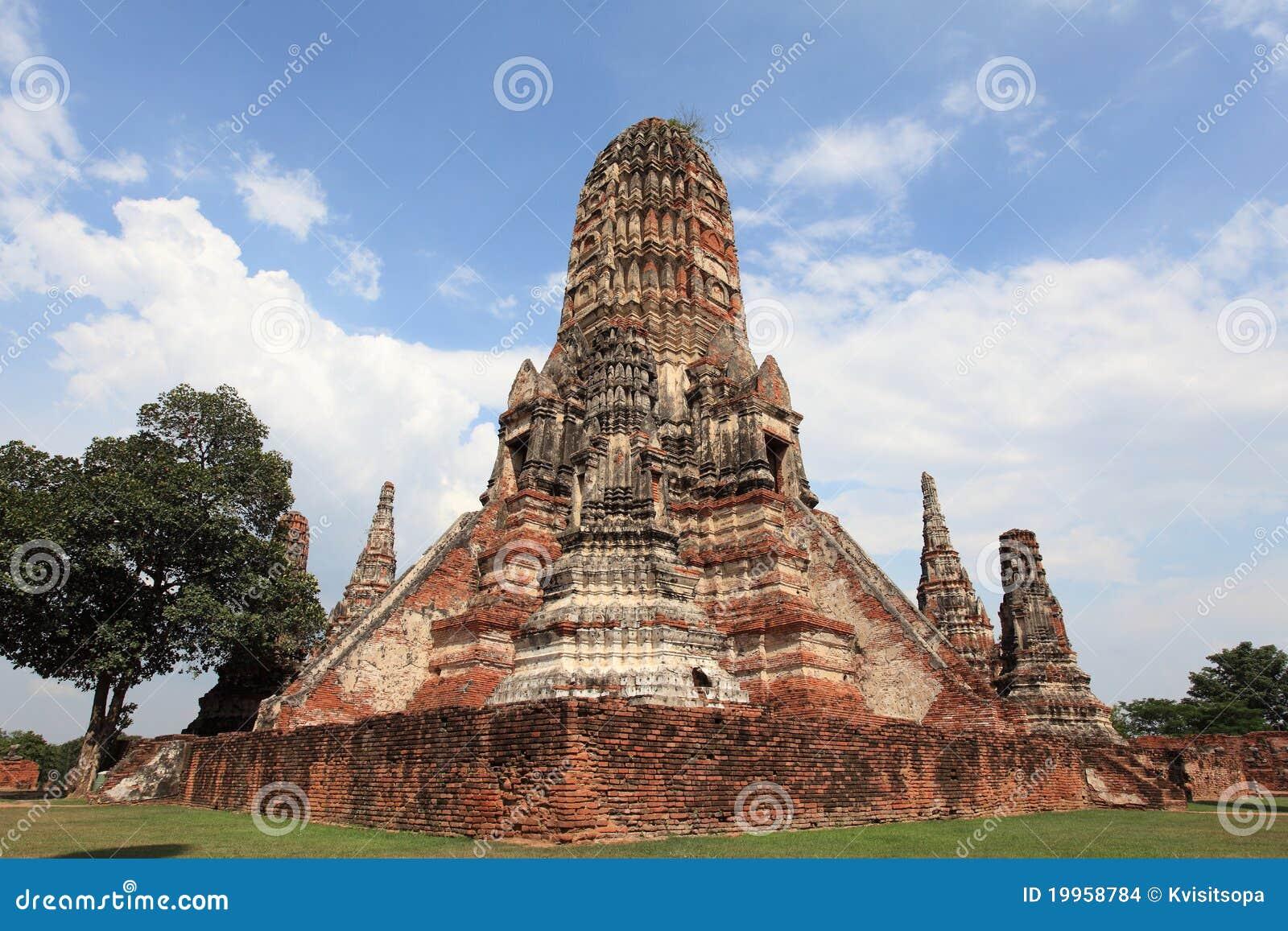 Historic City Of Ayutthaya - Wat Chai Wattanaram Stock ...