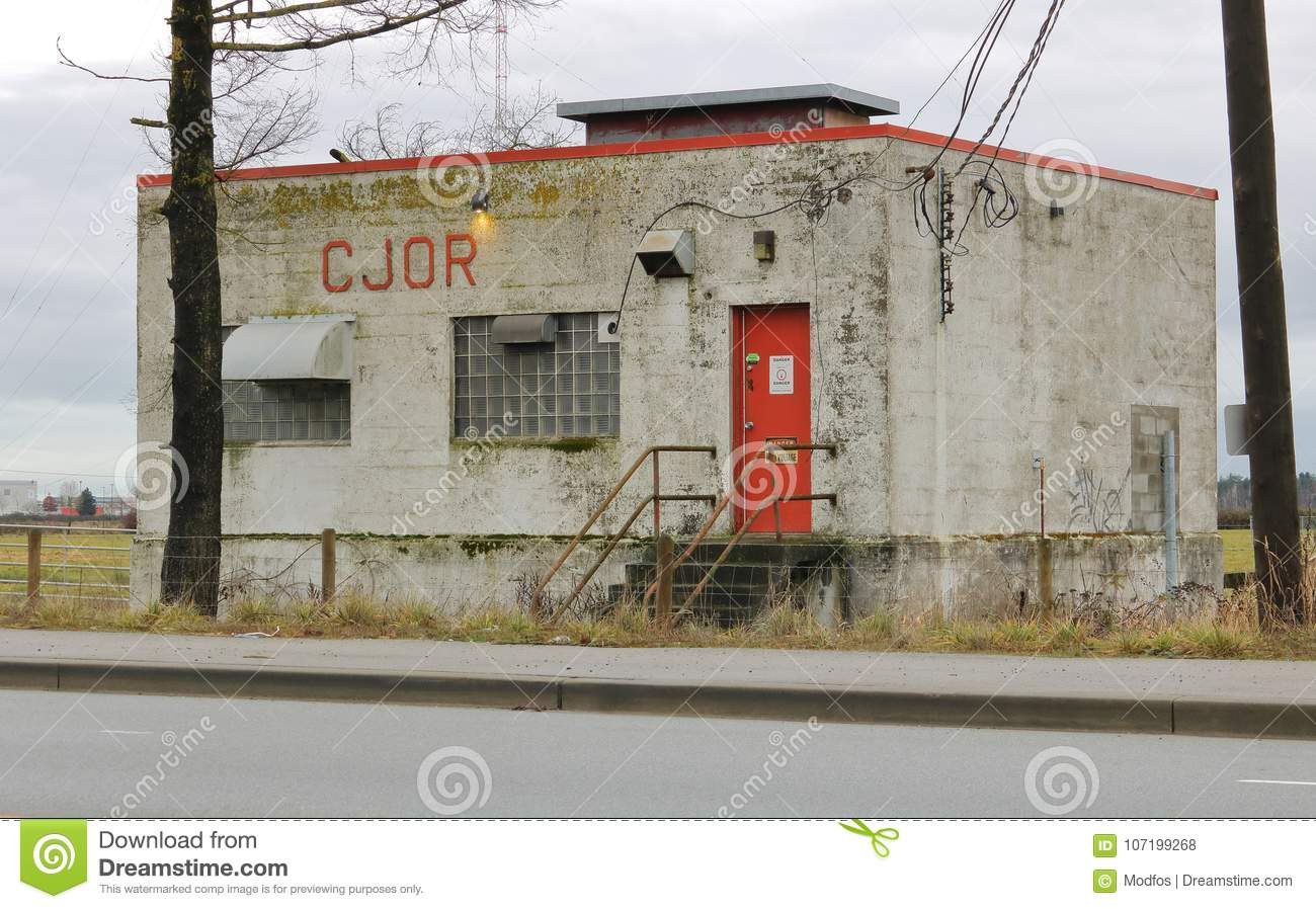 Historic Cjor Radio Transmitter Site Editorial Stock Photo Image How To Build Simple Am