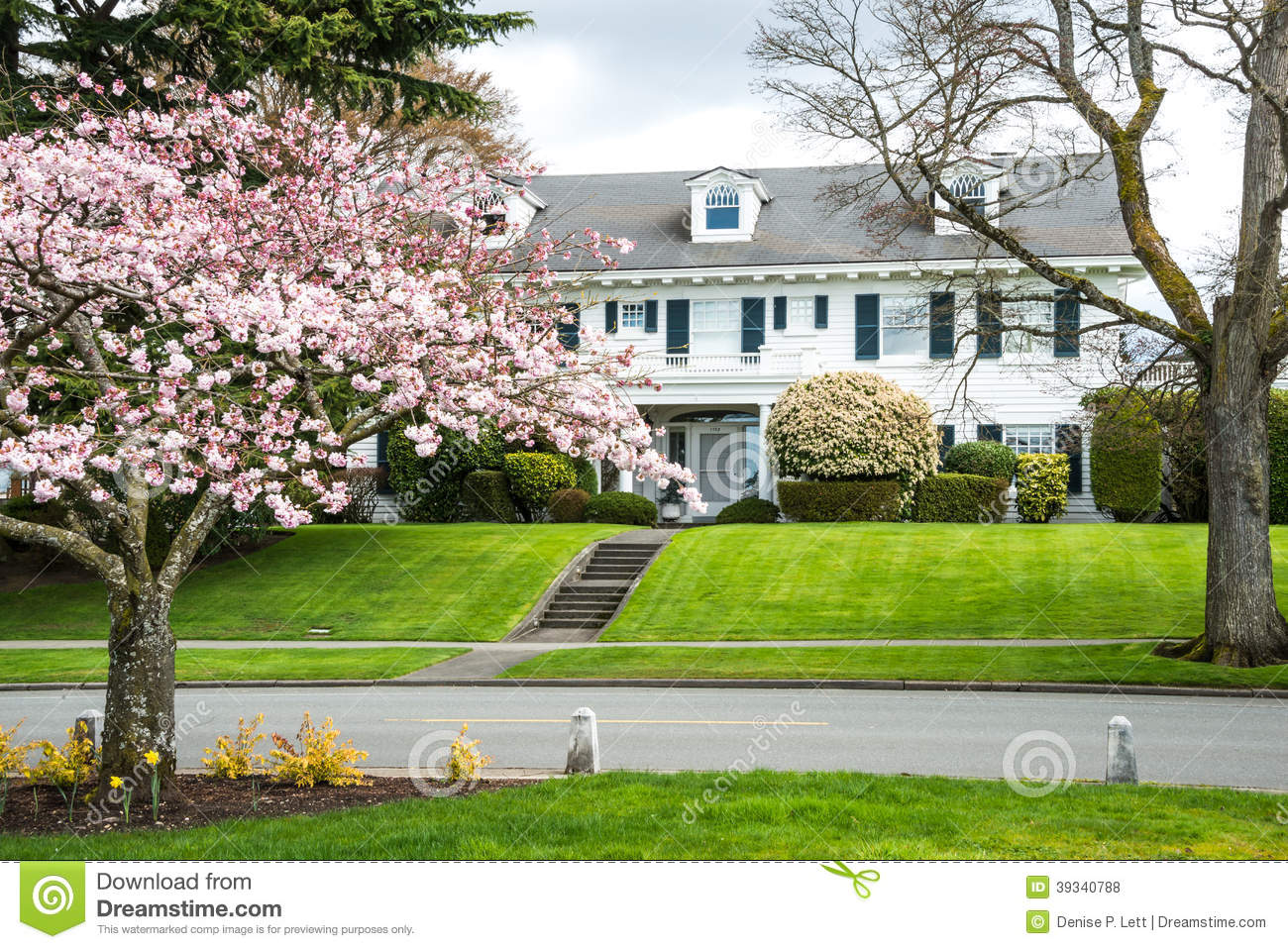 An American Colonial Home Landscaping