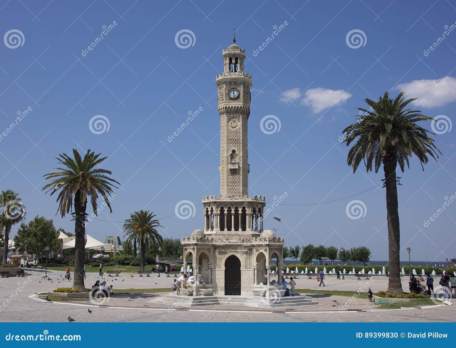 Historic Clocktower In Konak Square, Izmir Editorial Image ...