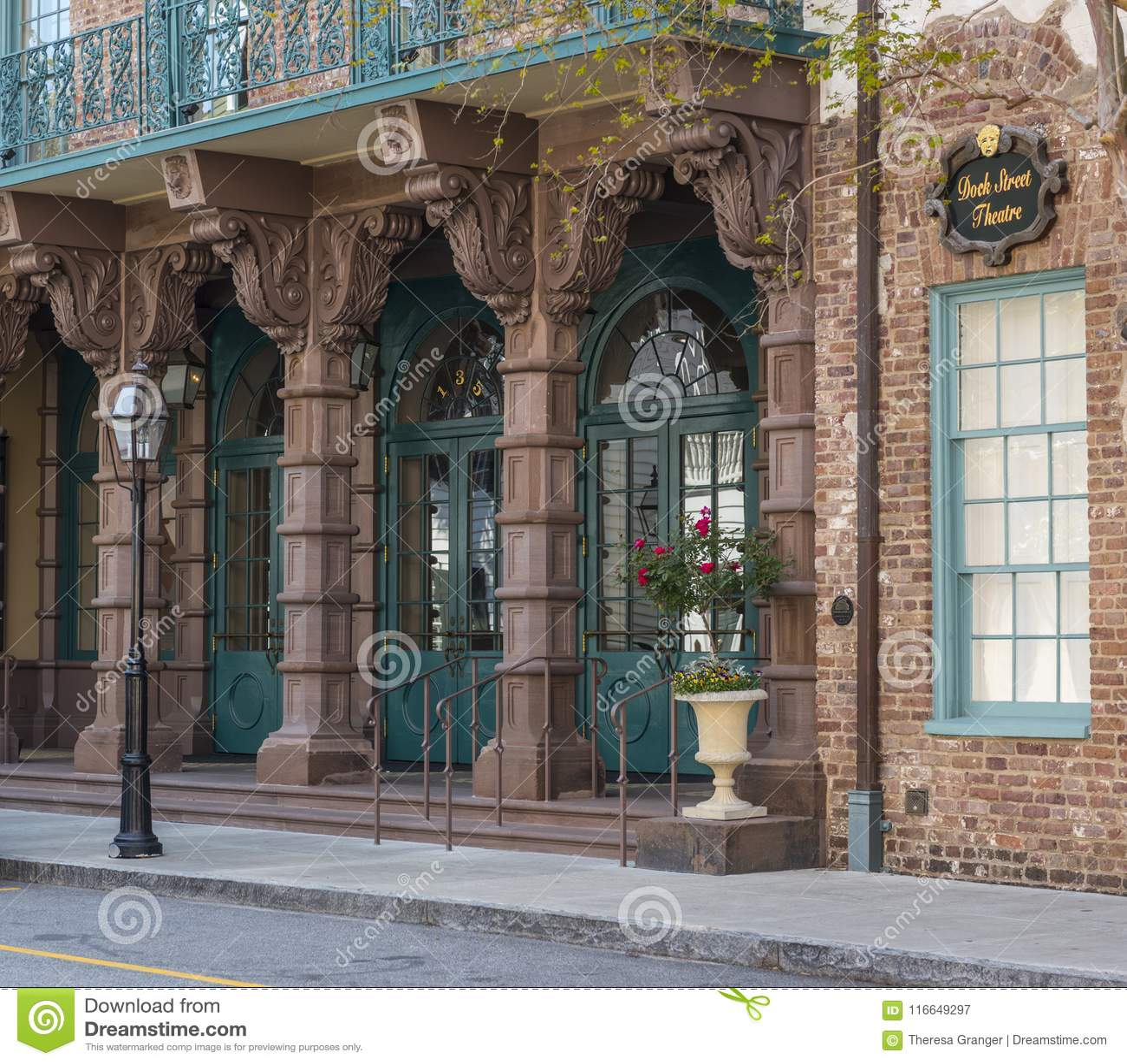 CHARLESTON, South Carolina MARCH 23 2018: Dock Street Theatre, Charleston, South Carolina