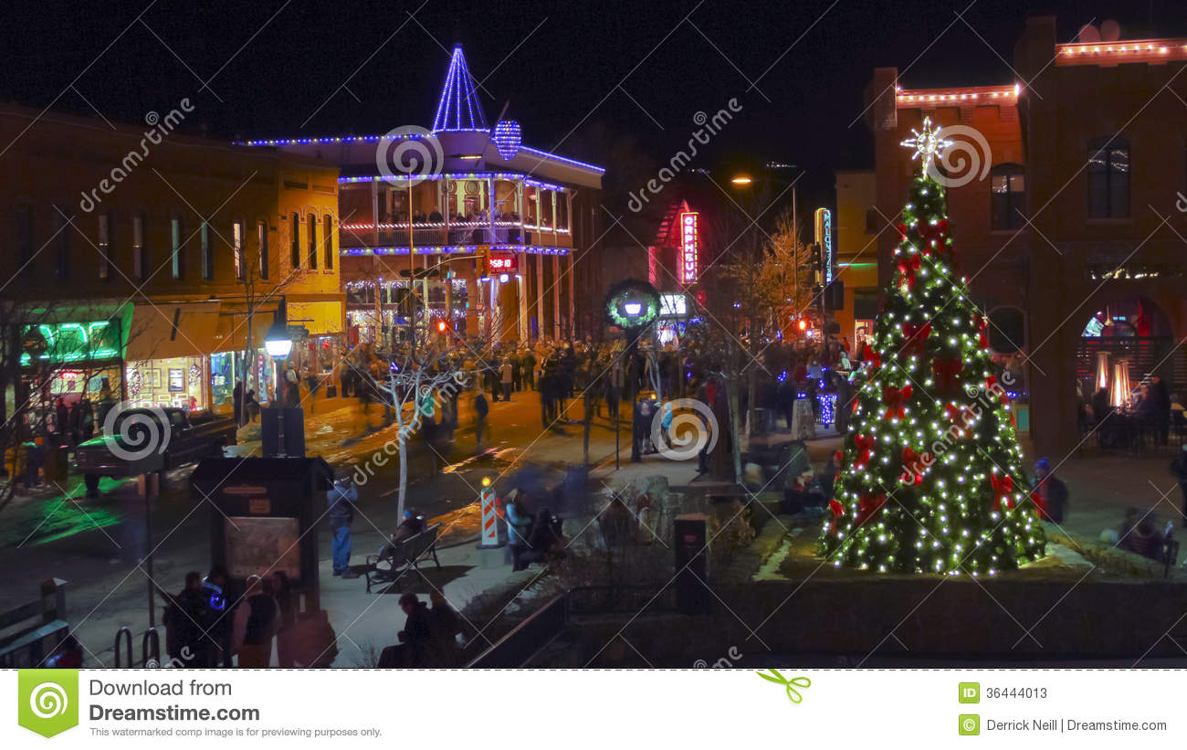 An Historic Downtown Flagstaff Arizona New Year S Eve Editorial Stock Photo Image