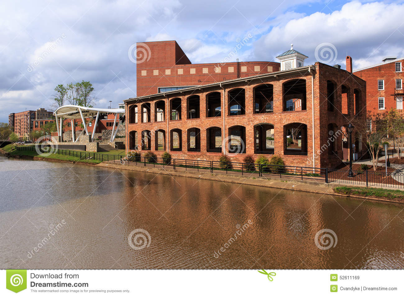 historic downtown greenville south carolina stock photo