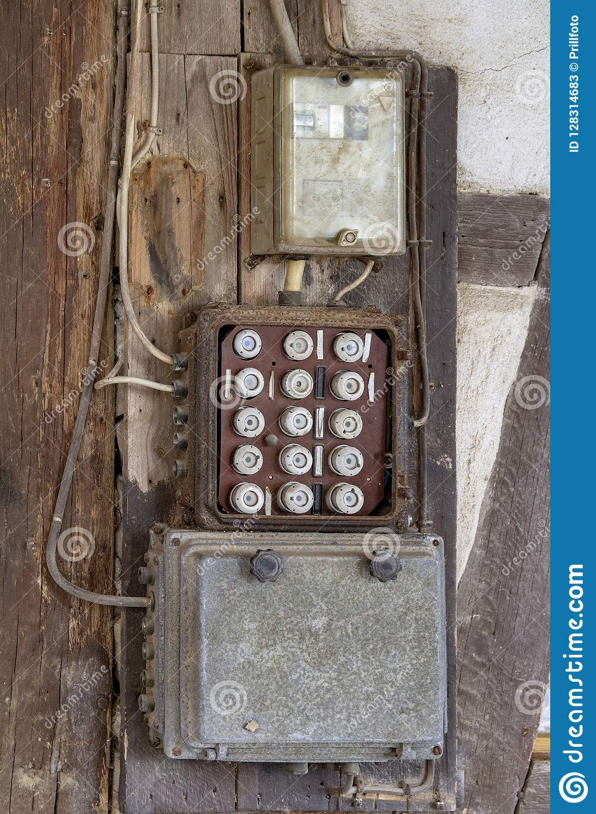 historic electrical fuse box