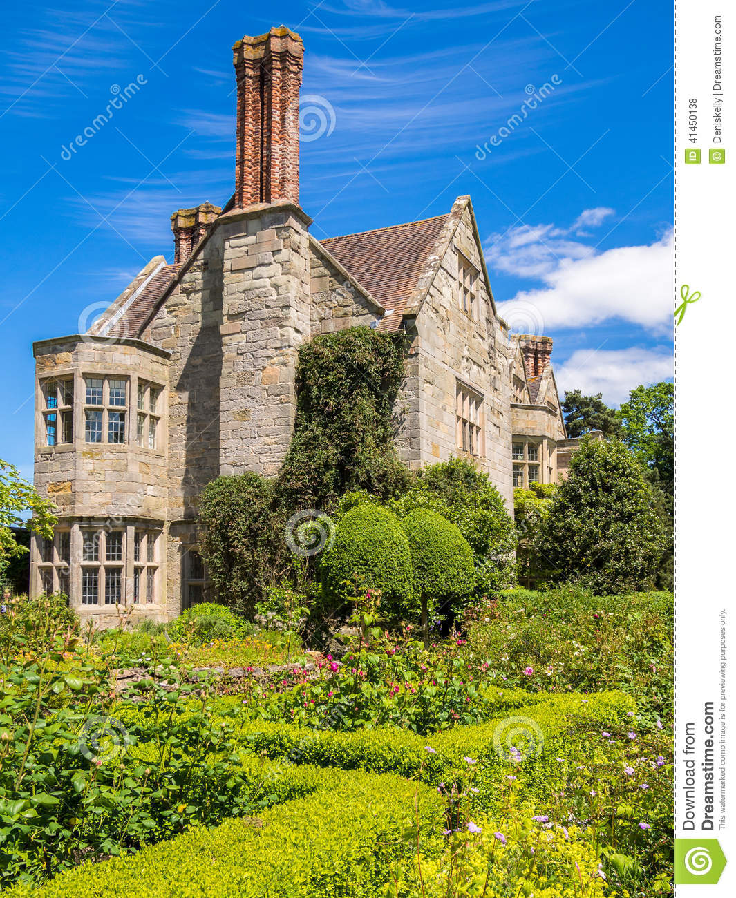 Historic English Country House Stock Photo Image 41450138
