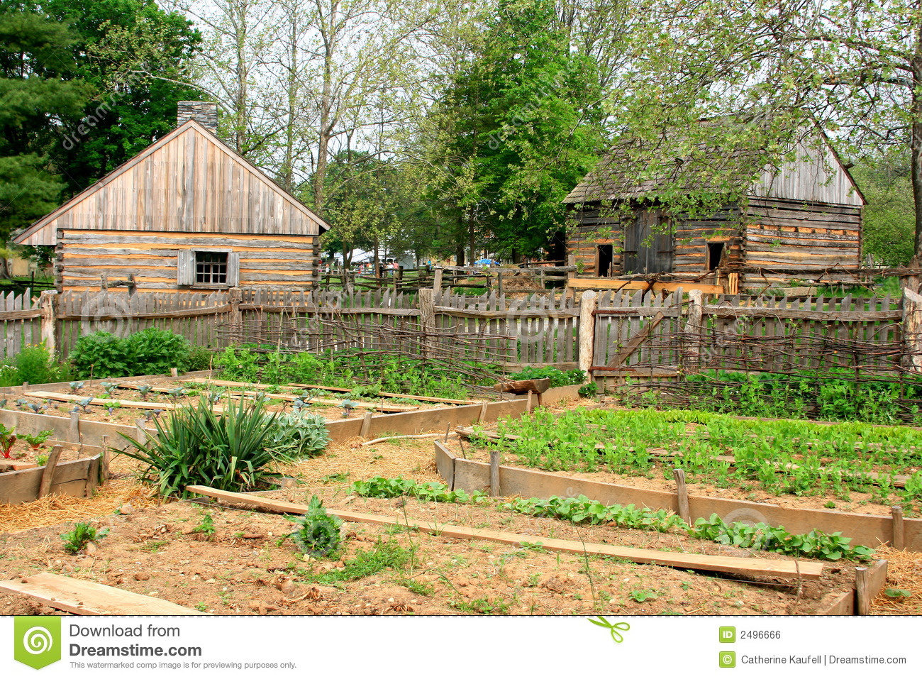 Backyard Farmers And Home Gardeners : Historic Farm Garden Royalty Free Stock Image  Image 2496666