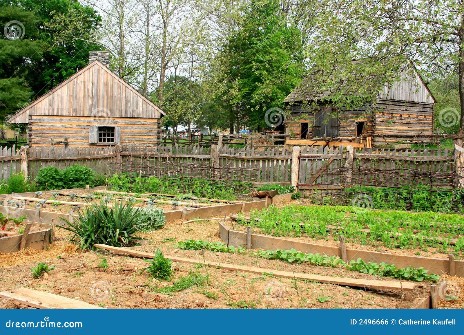Historic Farm Garden Royalty Free Stock Image Image 2496666