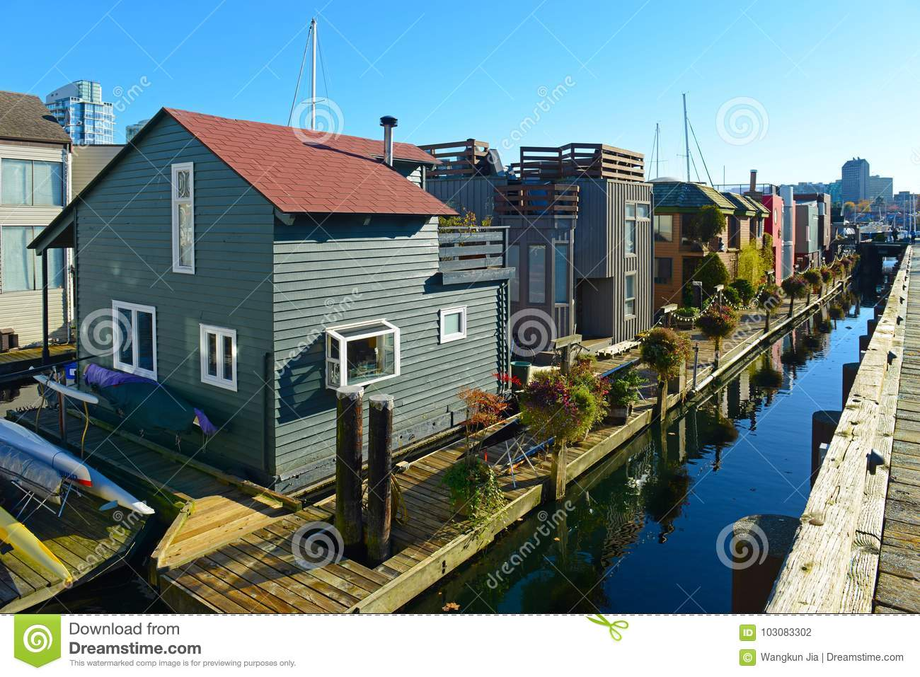 Float Houses, Vancouver, BC, Canada Stock Photo - Image of