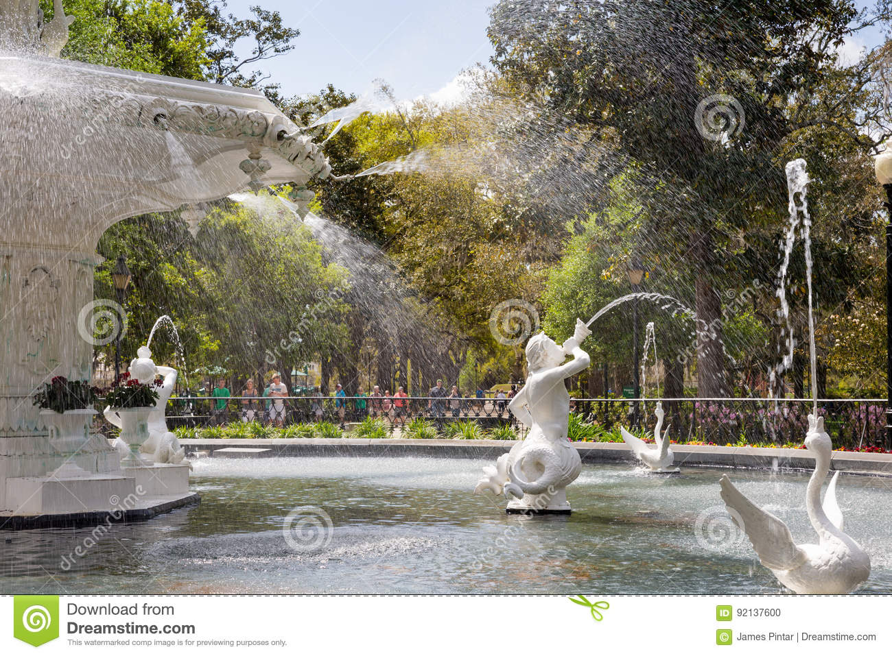 Historic Forsyth Fountain in Savannah