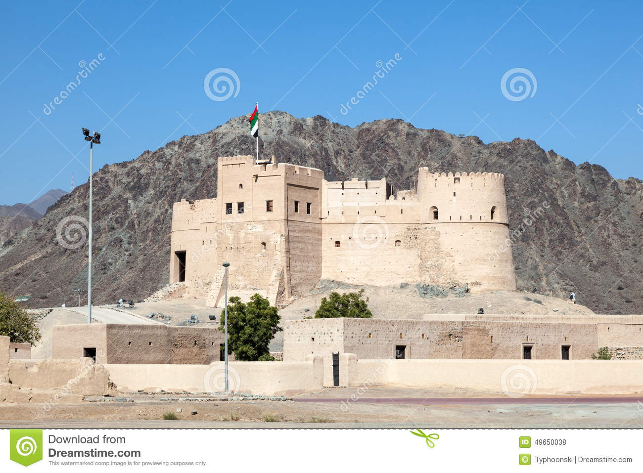 Fujairah United Arab Emirates  City new picture : Historic fort in Fujairah, United Arab Emirates.