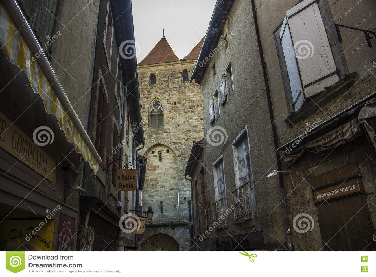 Historic Fortified city of Carcassone, France