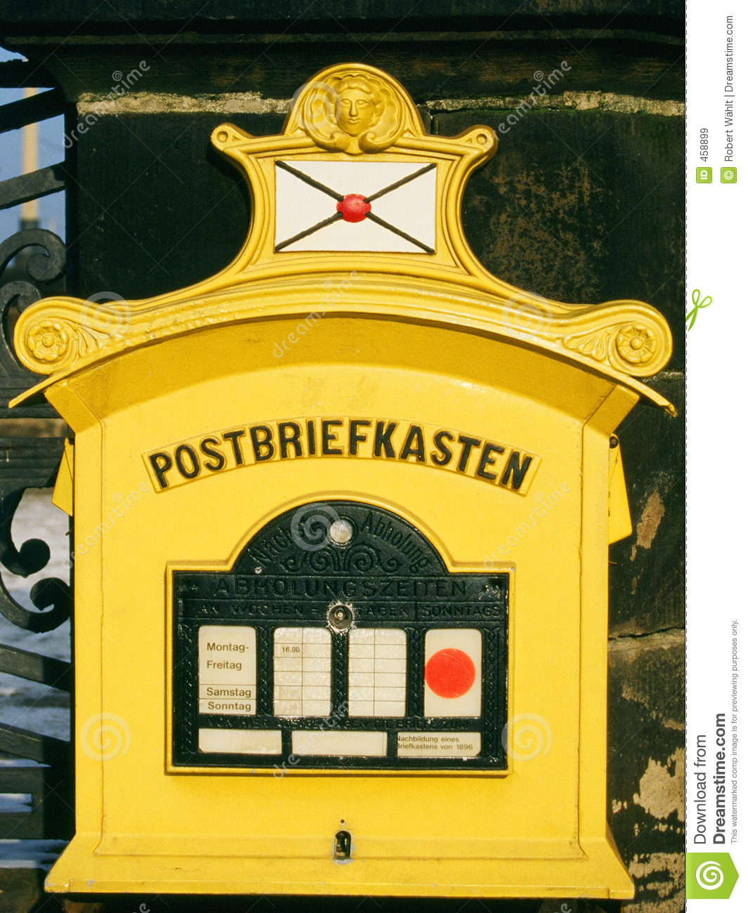 Download Historic German Mailbox stock image. Image of antique, saxony - 458899