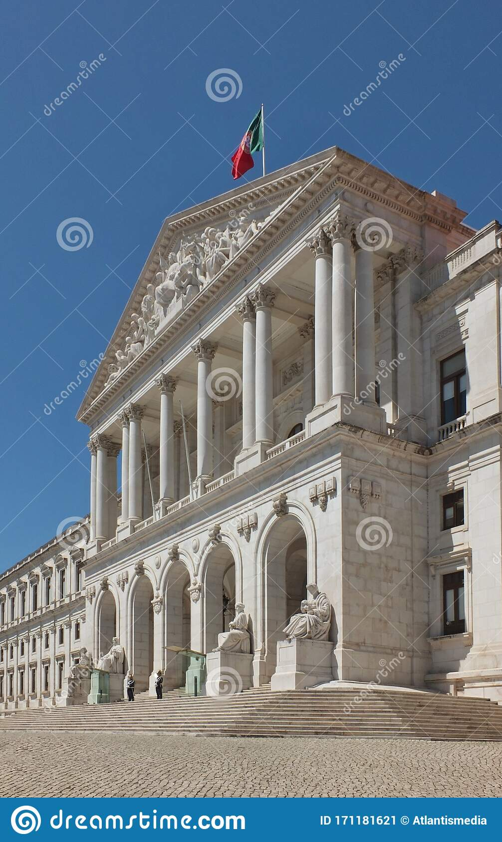 Historic Government Building In Lisbon Portugal Stock Image Image Of National Blue 171181621