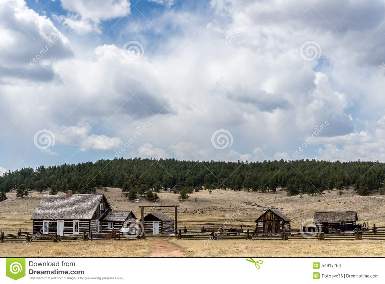 Historic hornbeck homestead colorado ranch farm stock for Free homestead