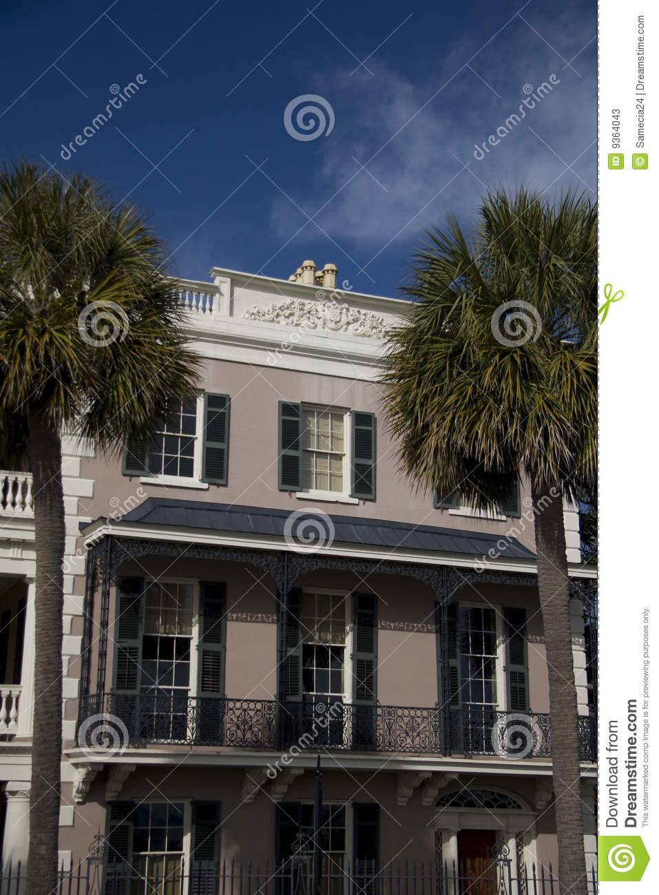 Historic House In Charleston Stock Photos Image 9364043