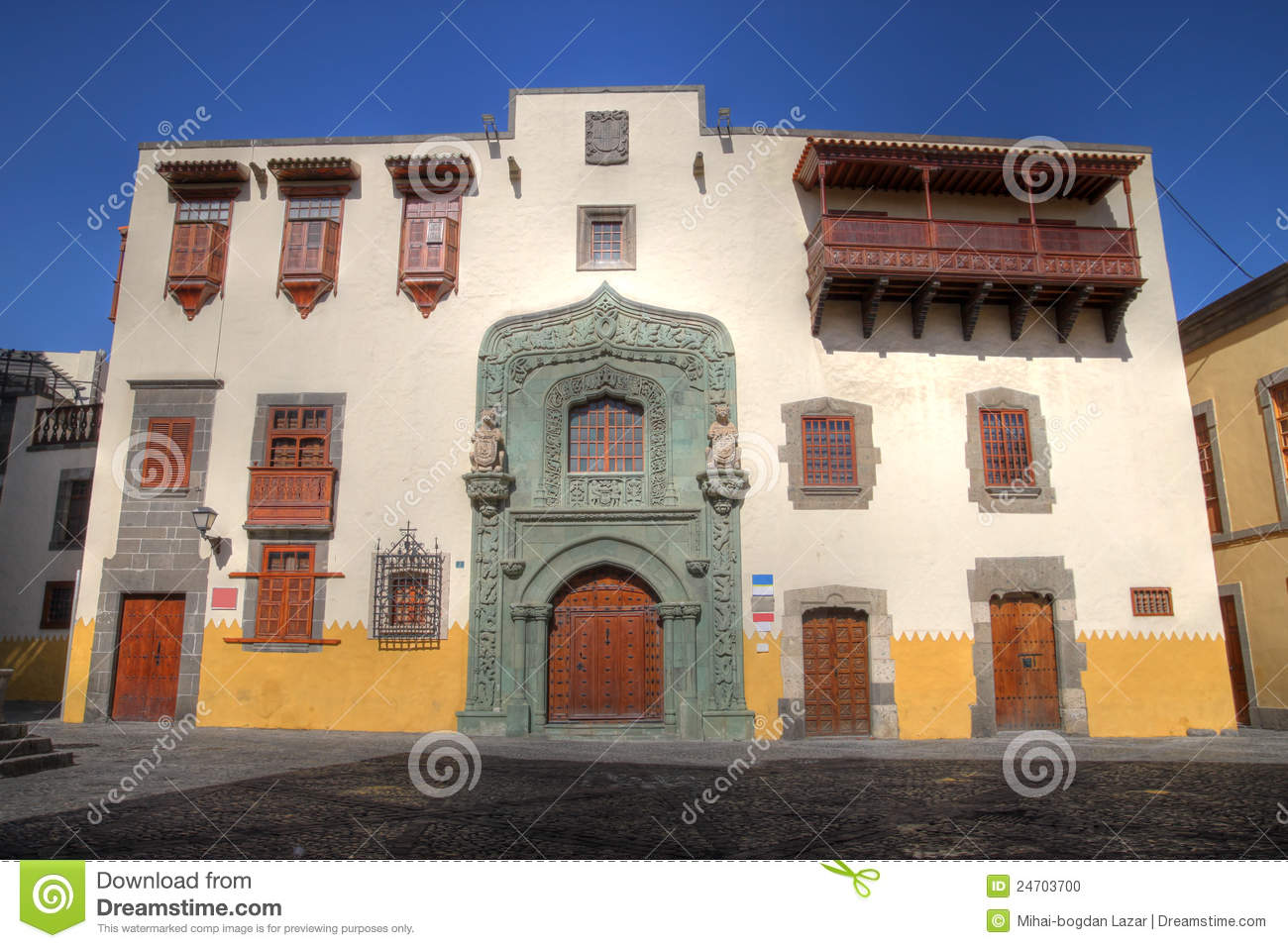 Historic house las palmas gran canaria spain stock - Houses in gran canaria ...