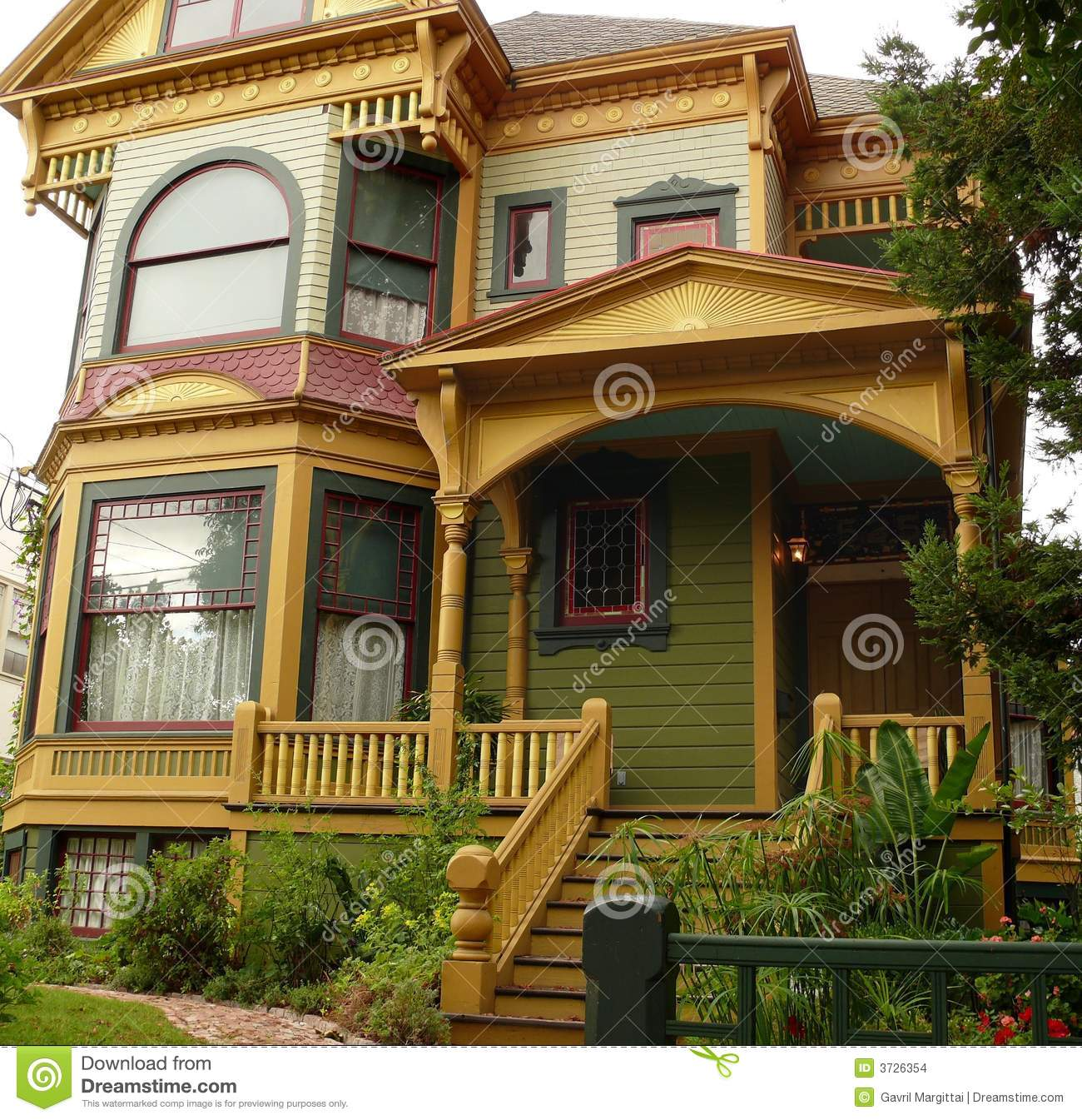 Historic House In San Jose Ca Stock Photo Image 3726354