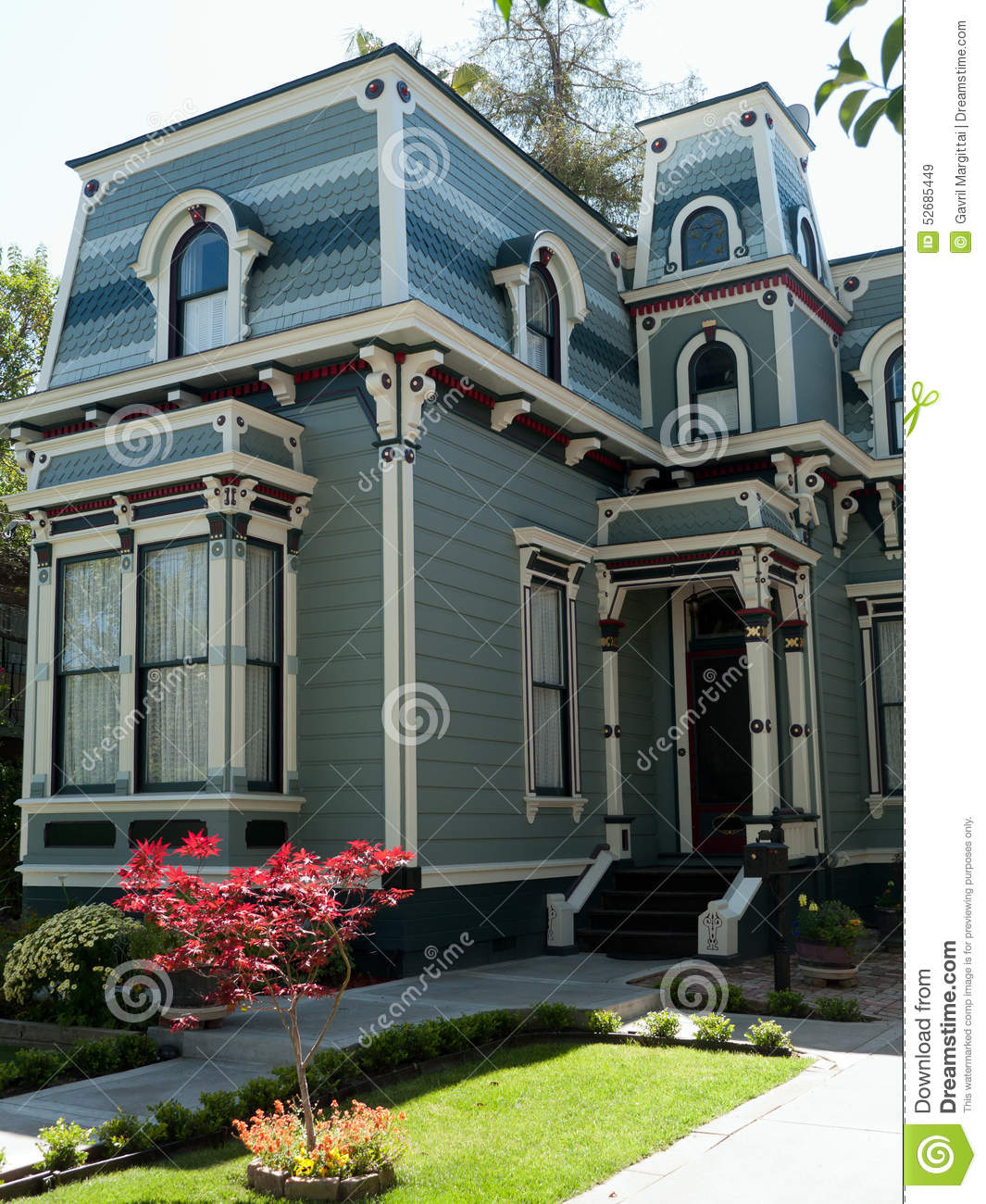 Historic house in san jose ca stock image image 52685449 for San francisco victorian houses history