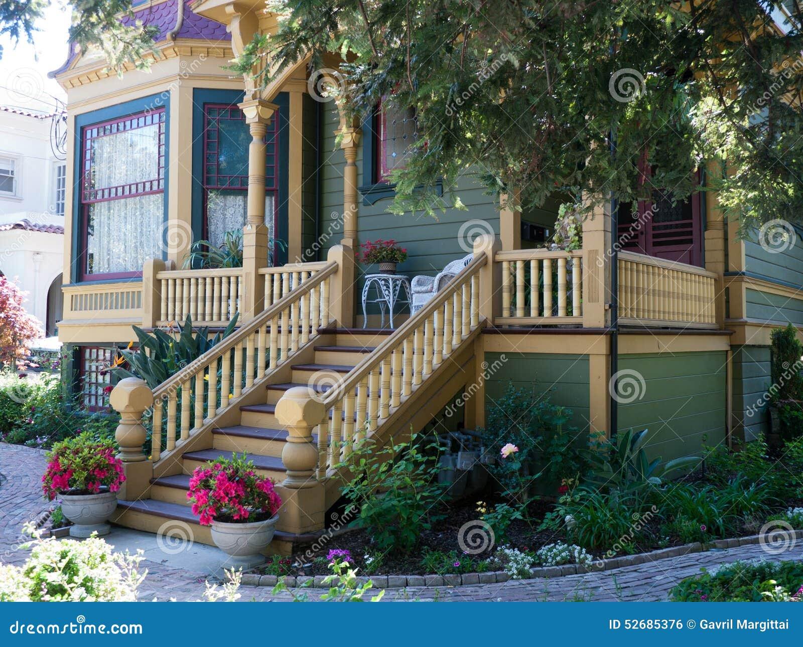 Historic House In San Jose CA Stock Photo - Image: 52685376