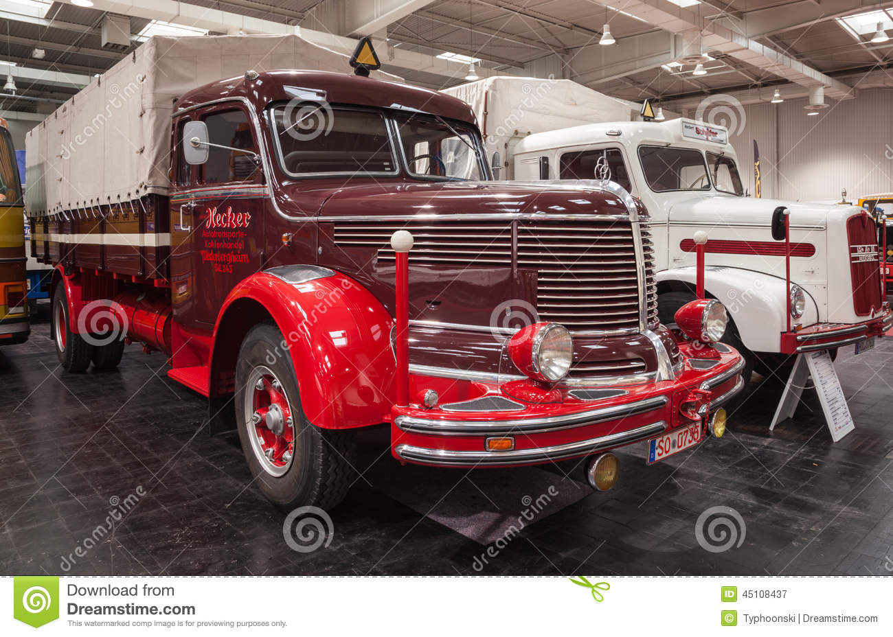 Historic KRUPP TITAN SWL 80 Truck From 1952 Editorial Photography - Image: 45108437