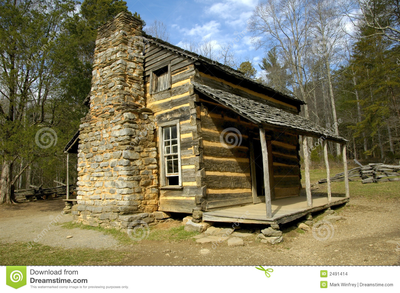 Historic Log Cabin Stock Photo Image Of Cottage Cabin