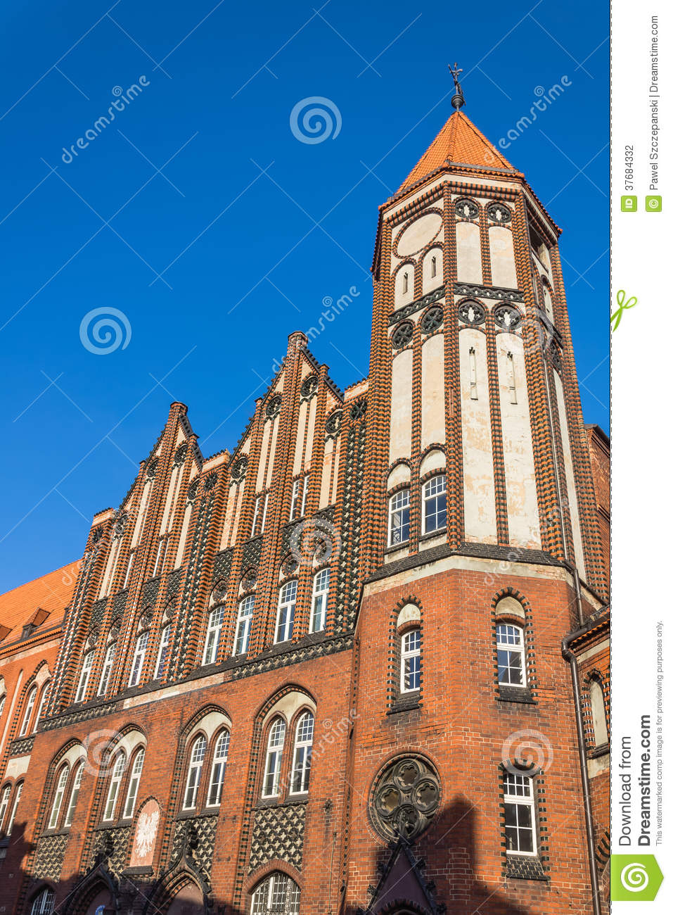 Historic main post office in gliwice stock photography for Main architectural styles