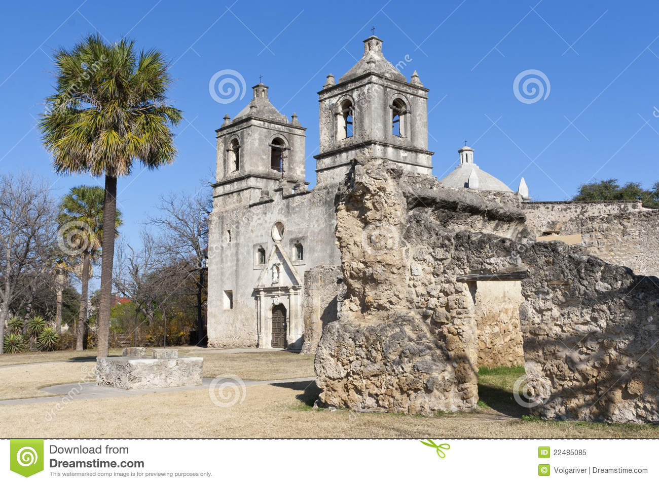 Historic Mission Concepcion In San Antonio Texas Royalty