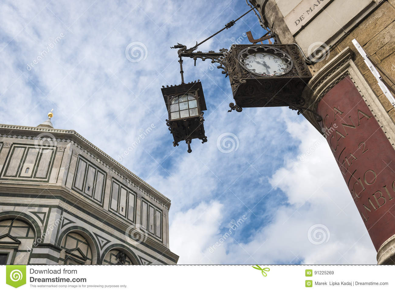 Historic and modern architectural elements In Florence landscape