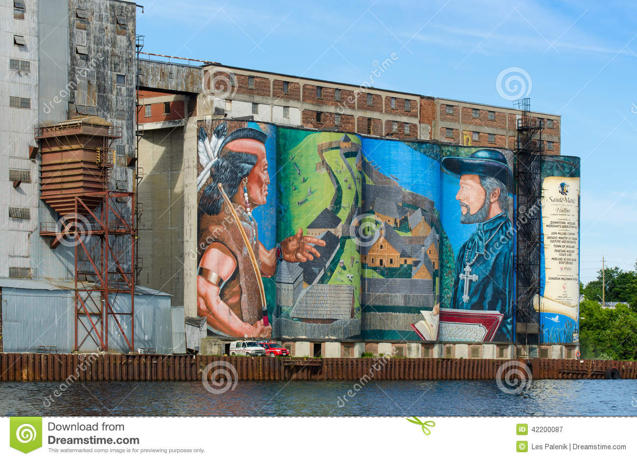 Historic mural in midland ontario