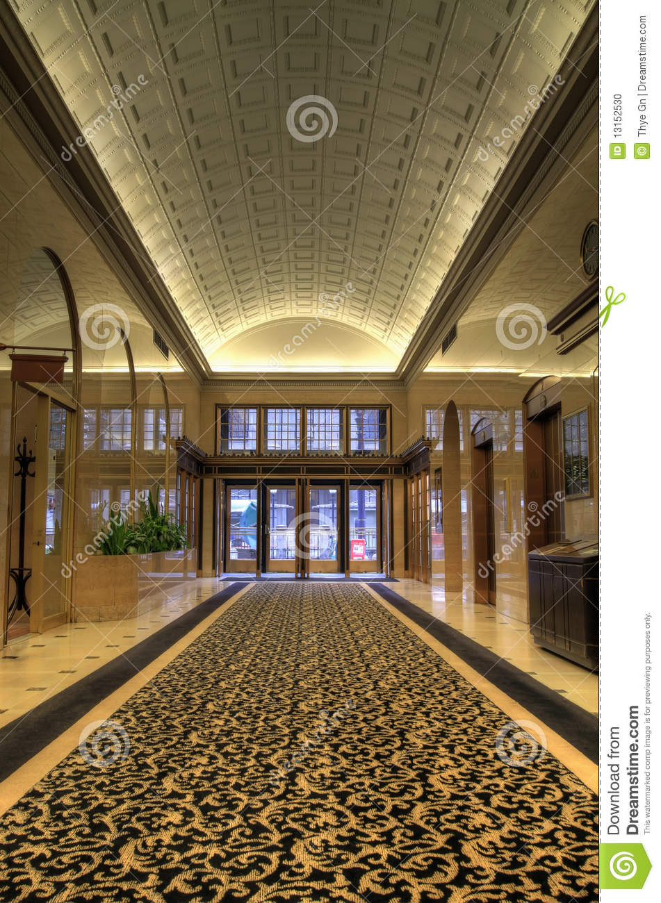 Historic Office Building Lobby Stock Photo Image 13152530