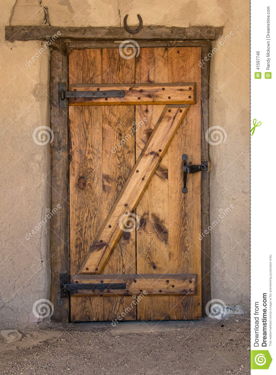 Historic Old Bent S Fort Vintage Door Stock Photo