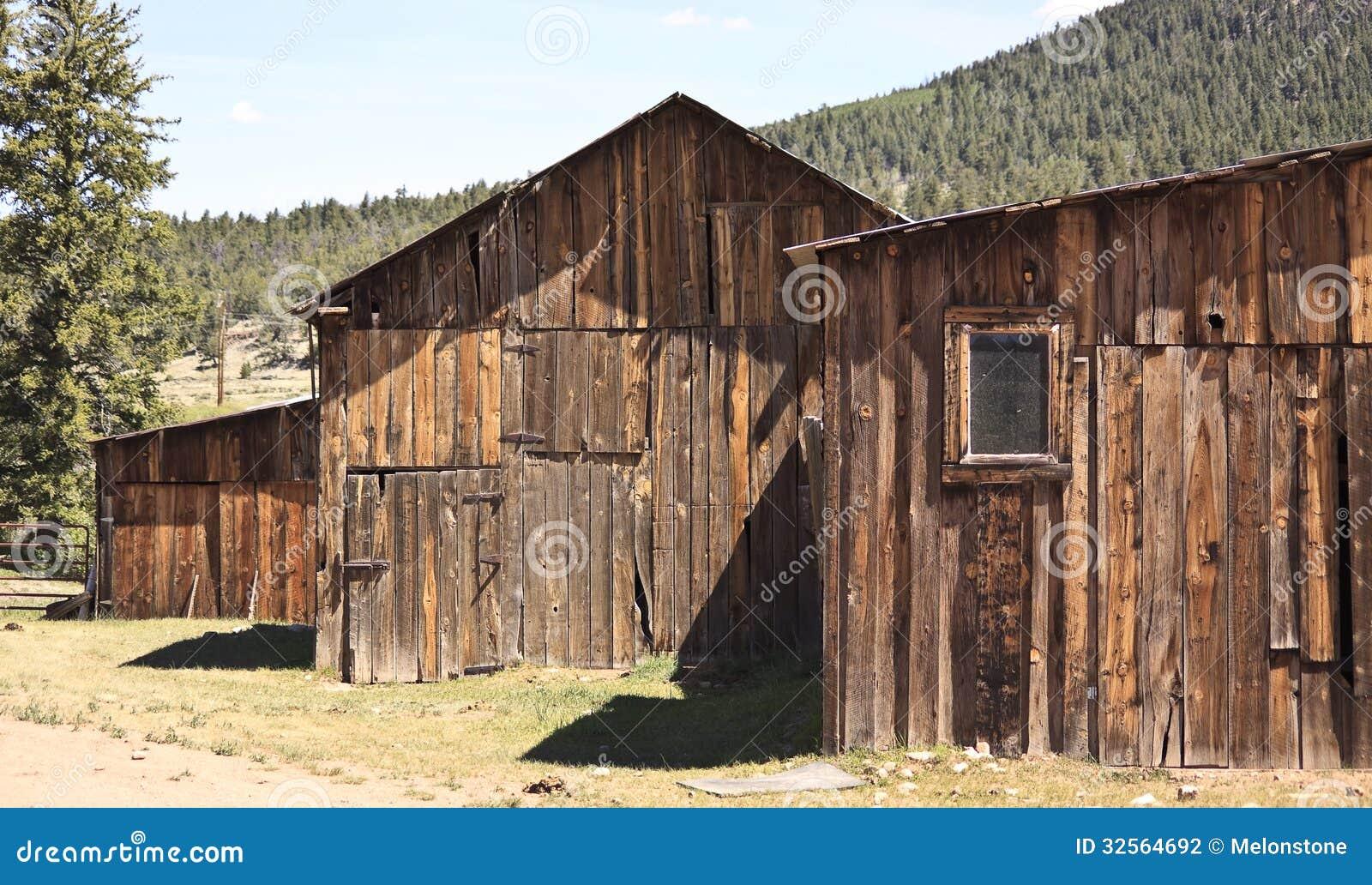 Historic Ranch Barns Stock Photo Image Of Original