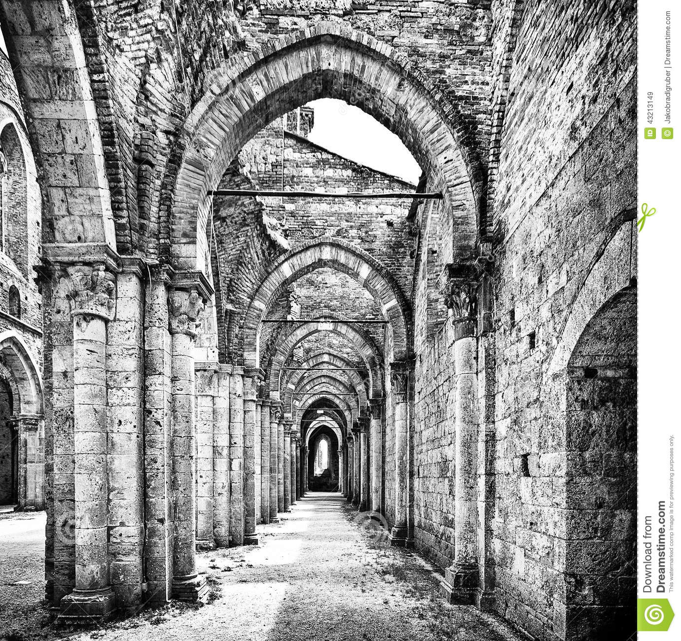 Historic Ruins Of Medieval Abbey Royalty-Free Stock Photo