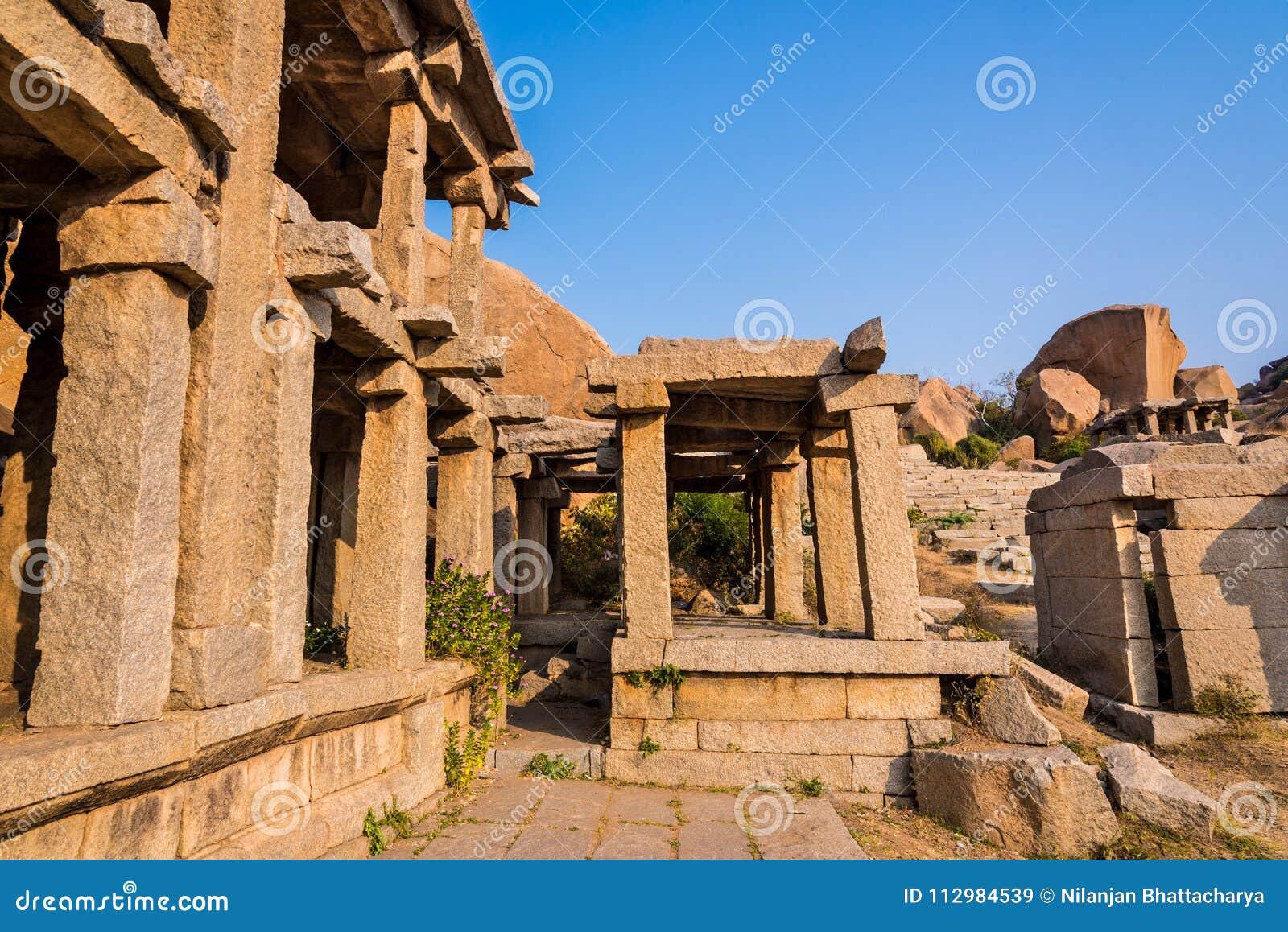 Historic ruins of Hampi