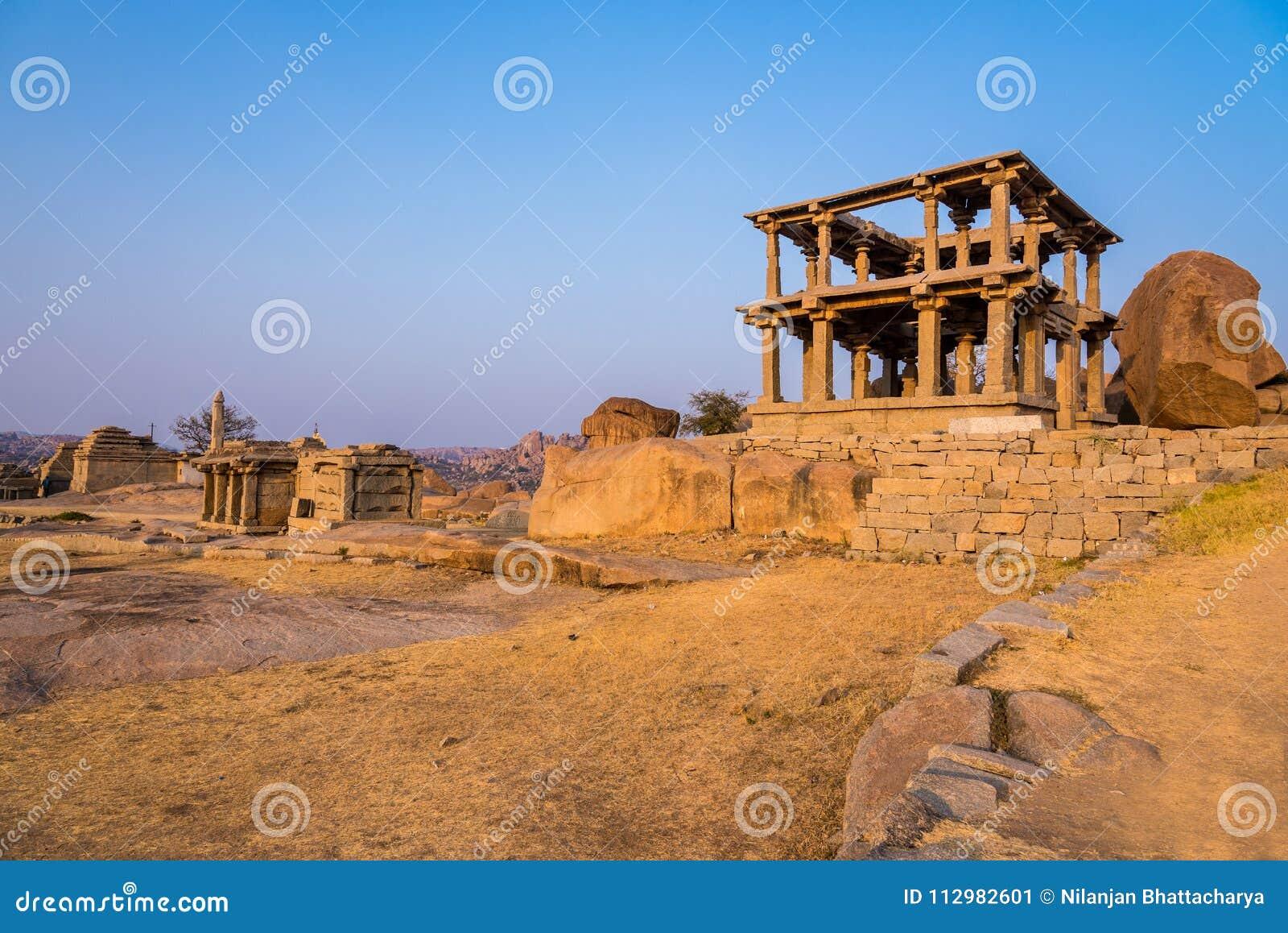 Hemakuta hills ruins at Hampi
