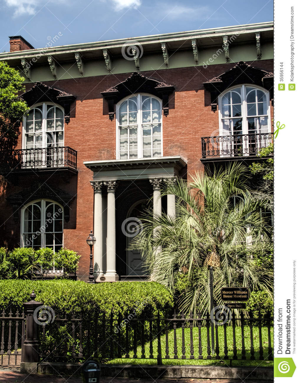 Historic Savannah Georgia Red Brick House Stock Images