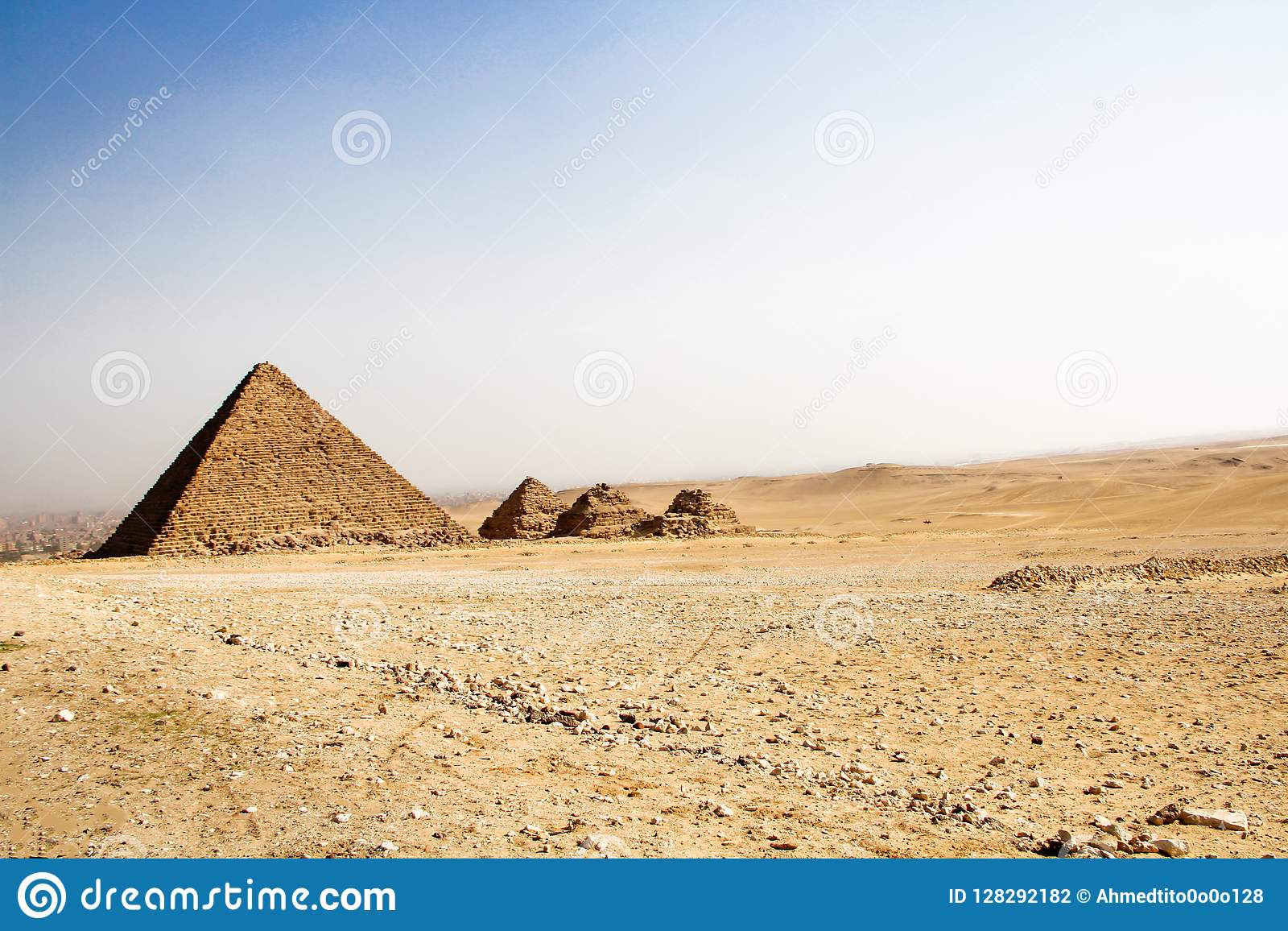 Small Pyramids Of Giza, Egypt Stock Photo - Image of cairo