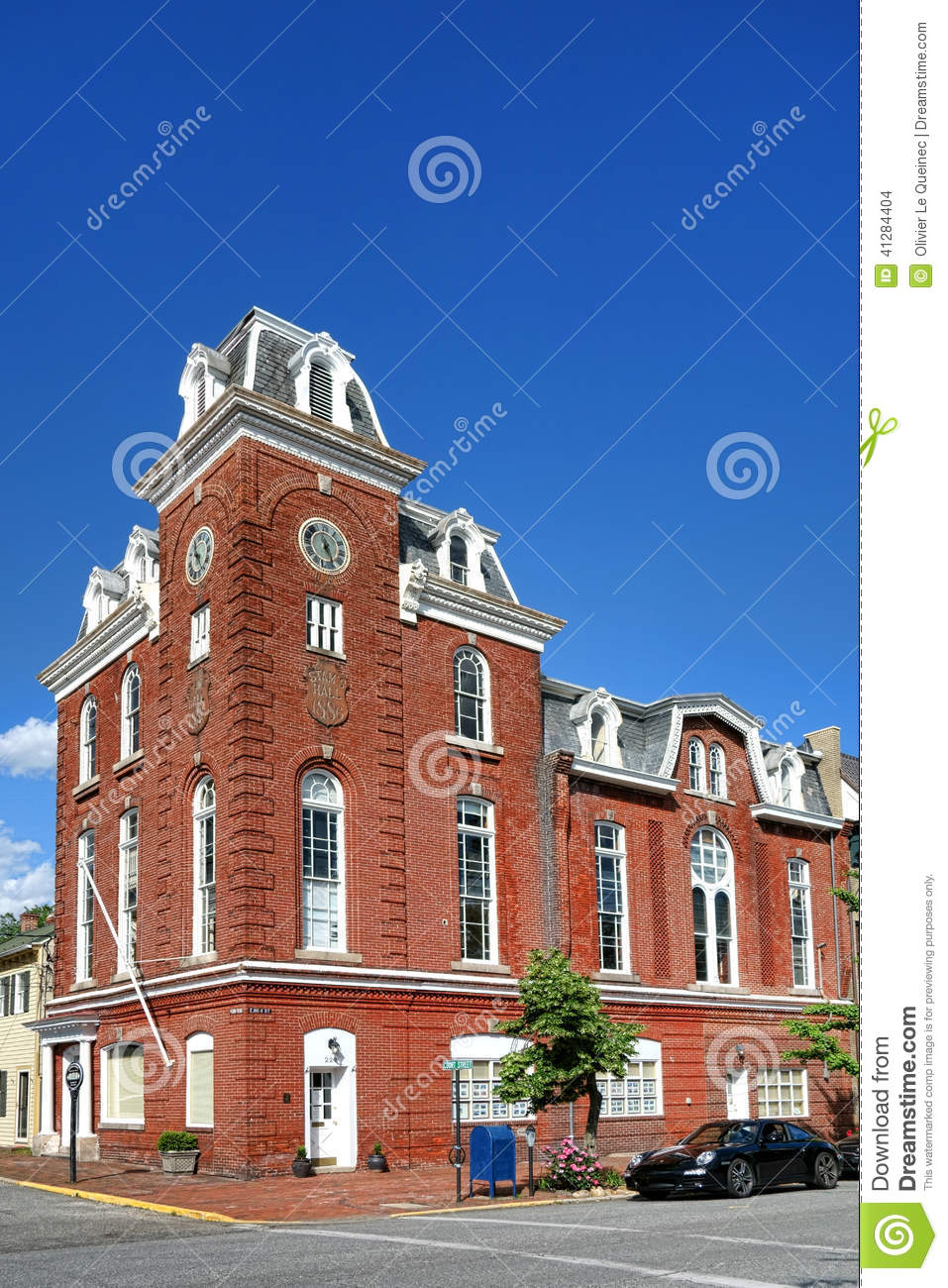 Historic stams hall in chestertown maryland stock photo for Building a victorian house