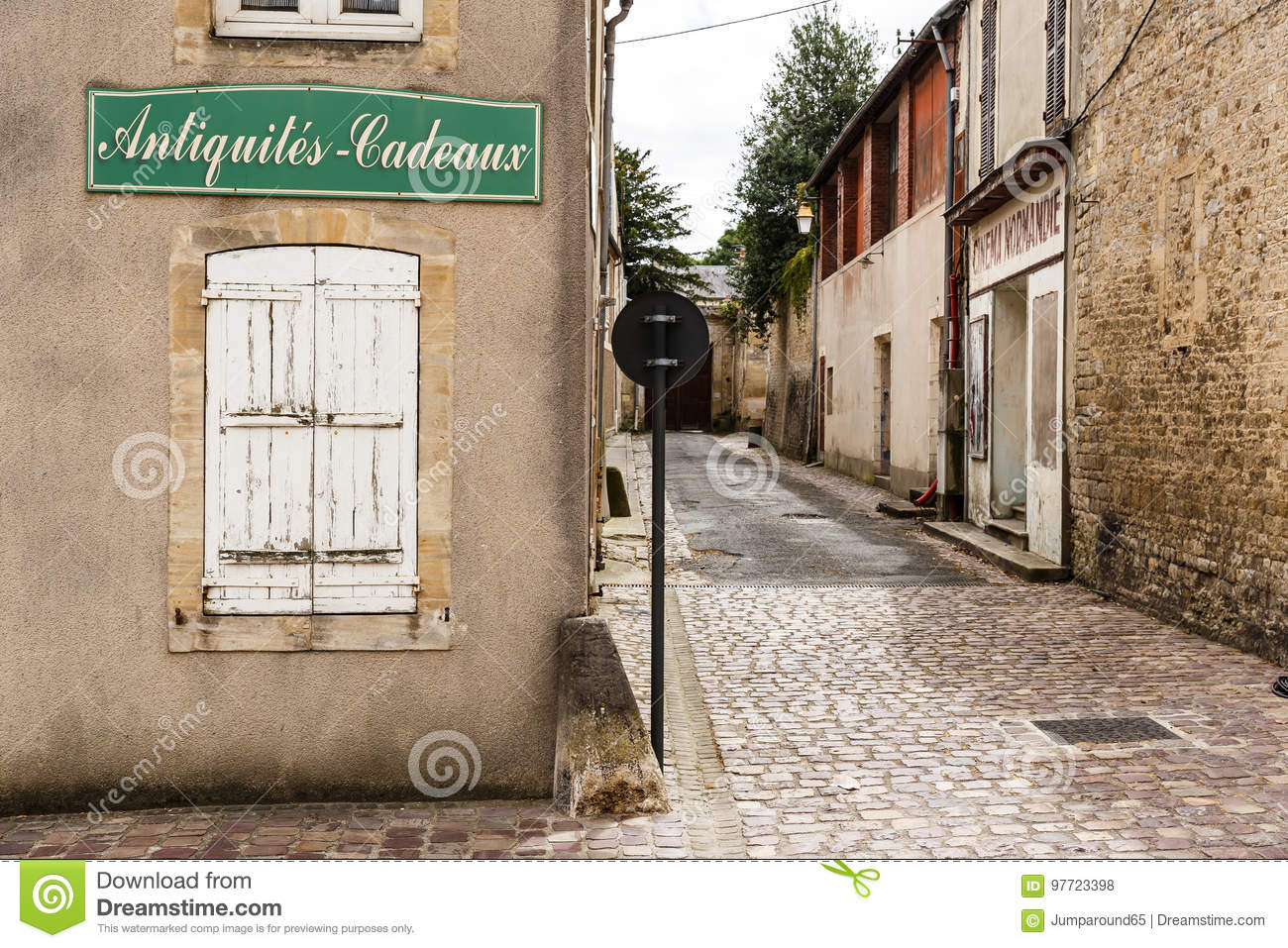 Historic street in Bayeux