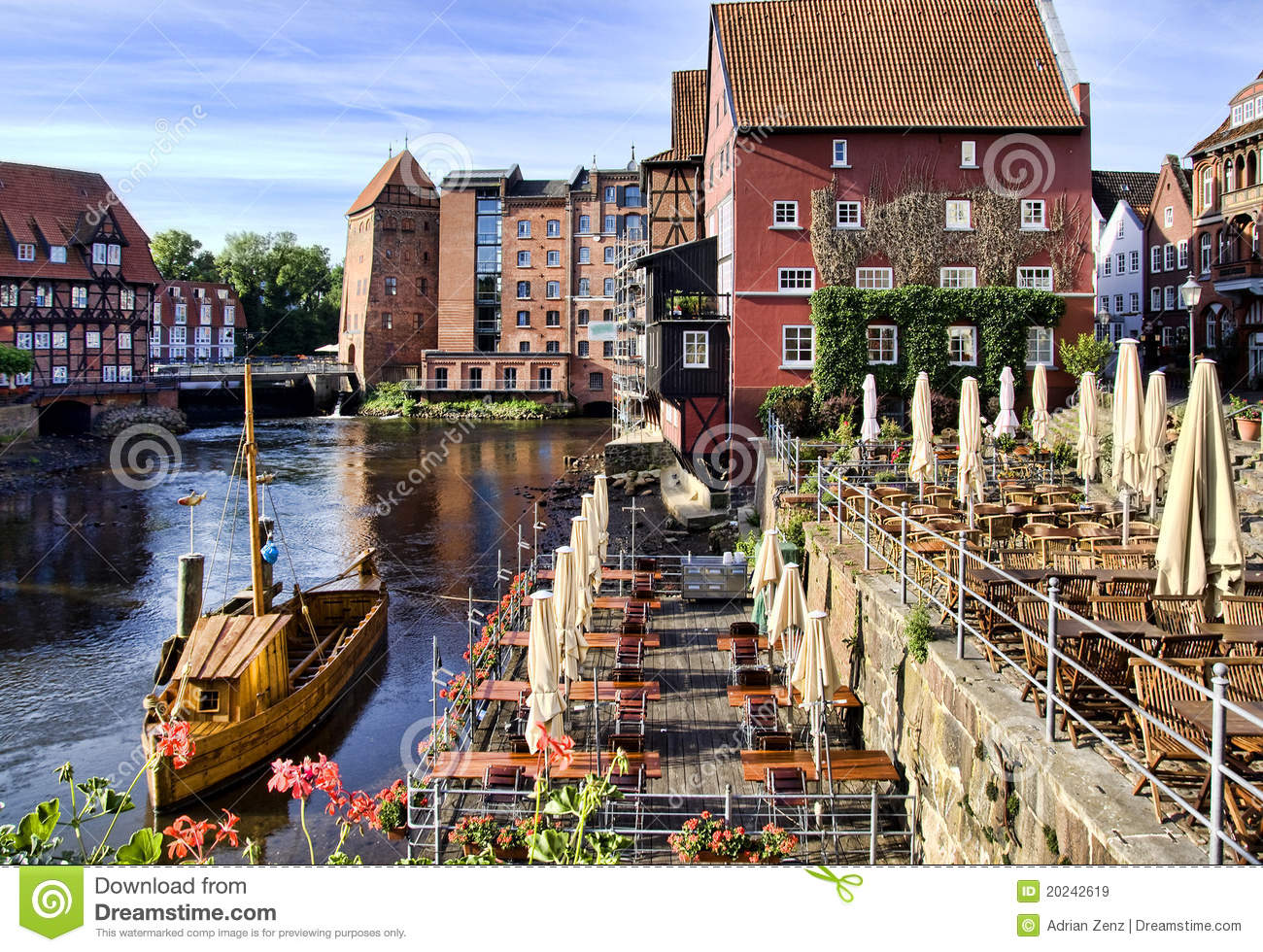 Historic town of Lueneburg, Germany