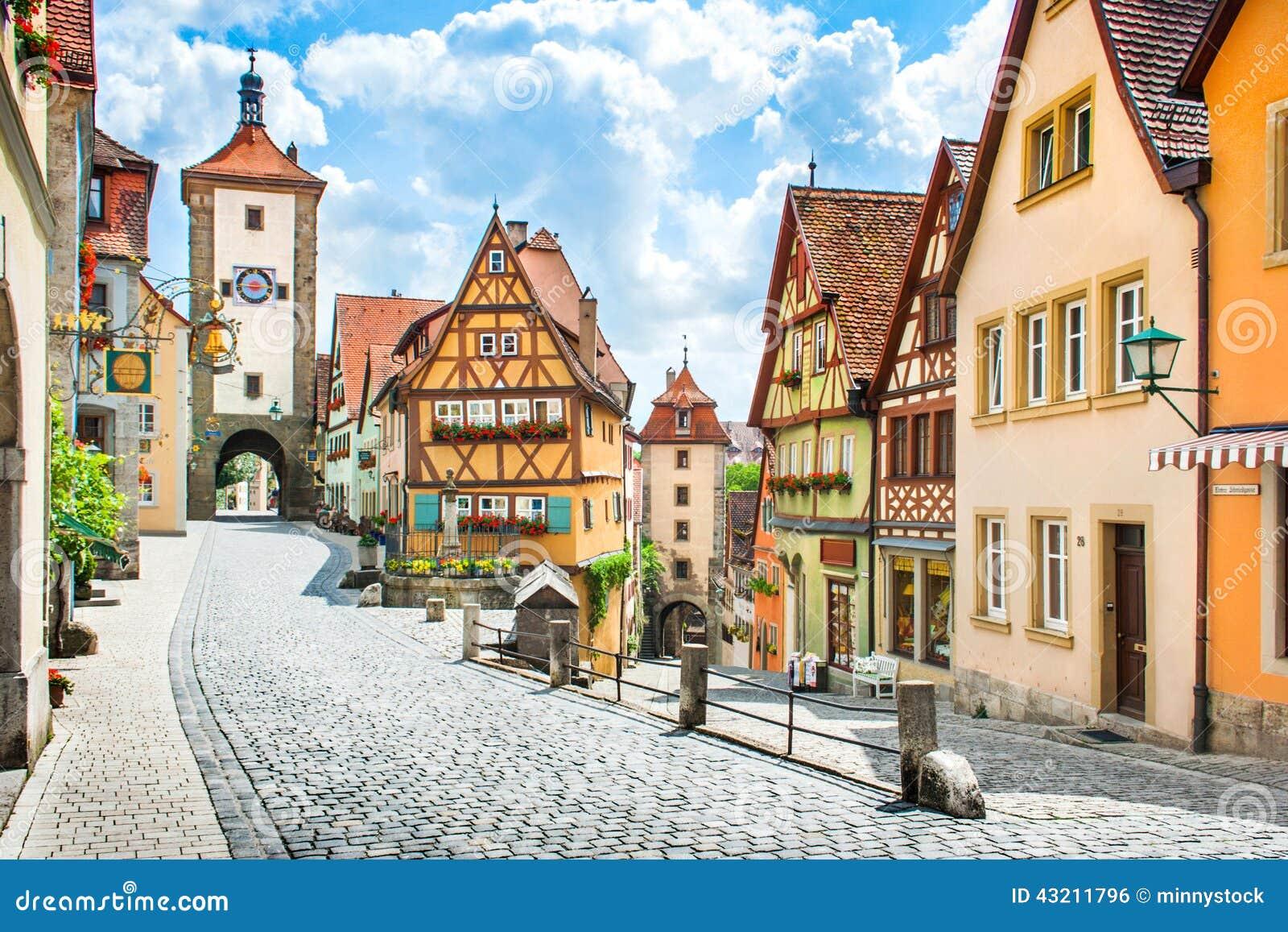 Historic town of Rothenburg ob der Tauber, Bavaria, Germany