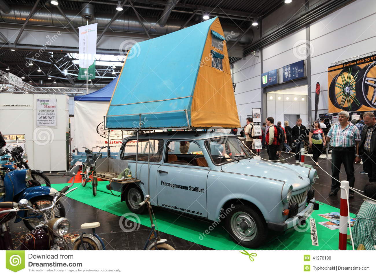 historic trabant camping car editorial stock photo image. Black Bedroom Furniture Sets. Home Design Ideas