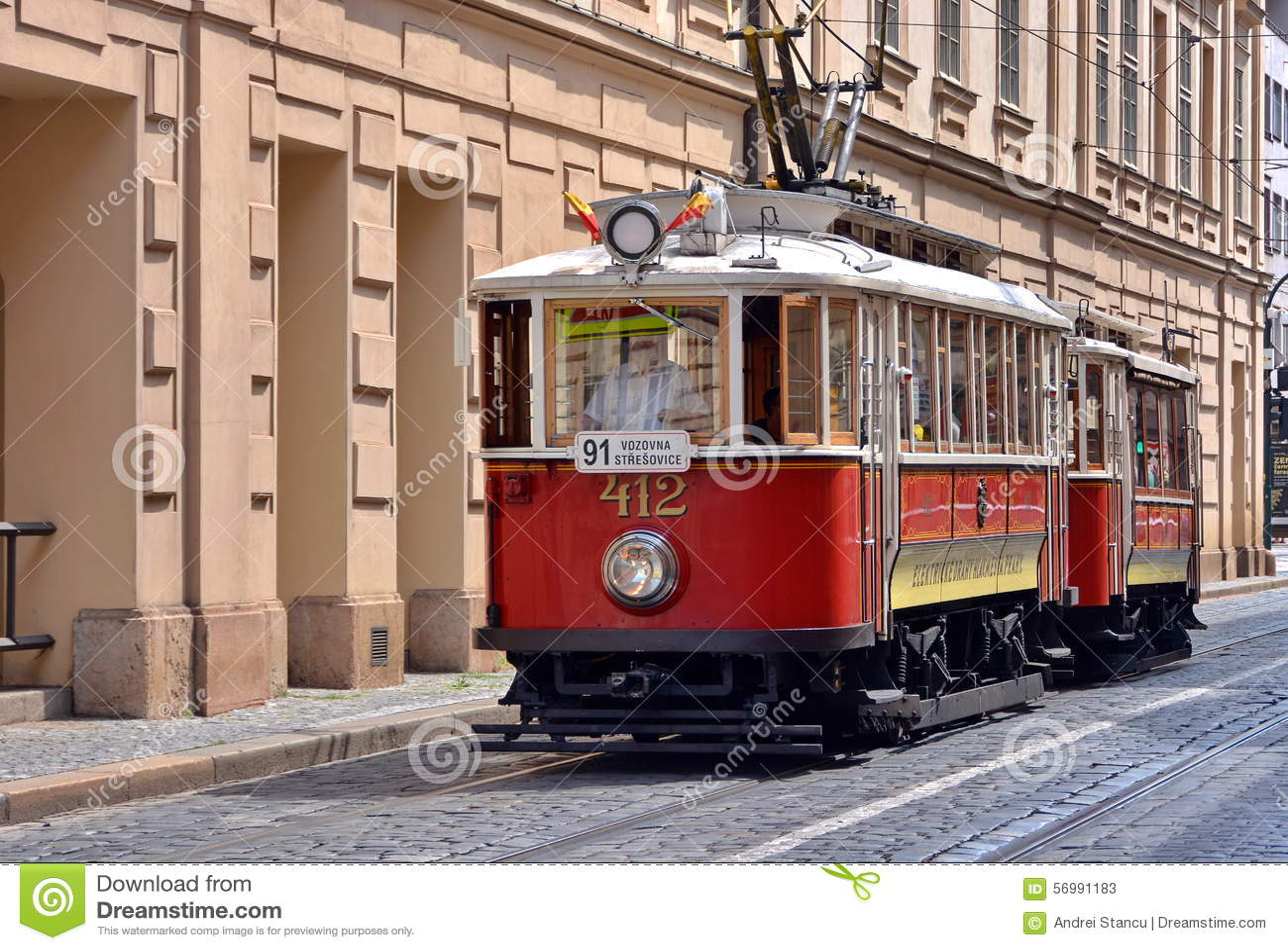 old tram prague street - photo #39