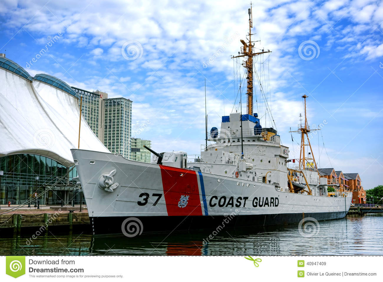Historic US Coast Guard Cutter Taney in Baltimore