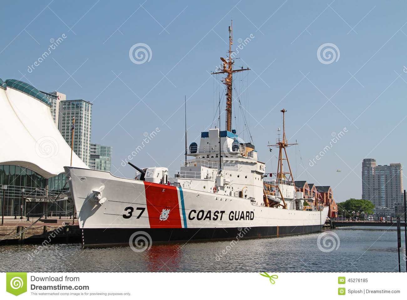Taney Coast Guard Ship In Baltimore Inner Harbor Editorial Image - Ship museums in us