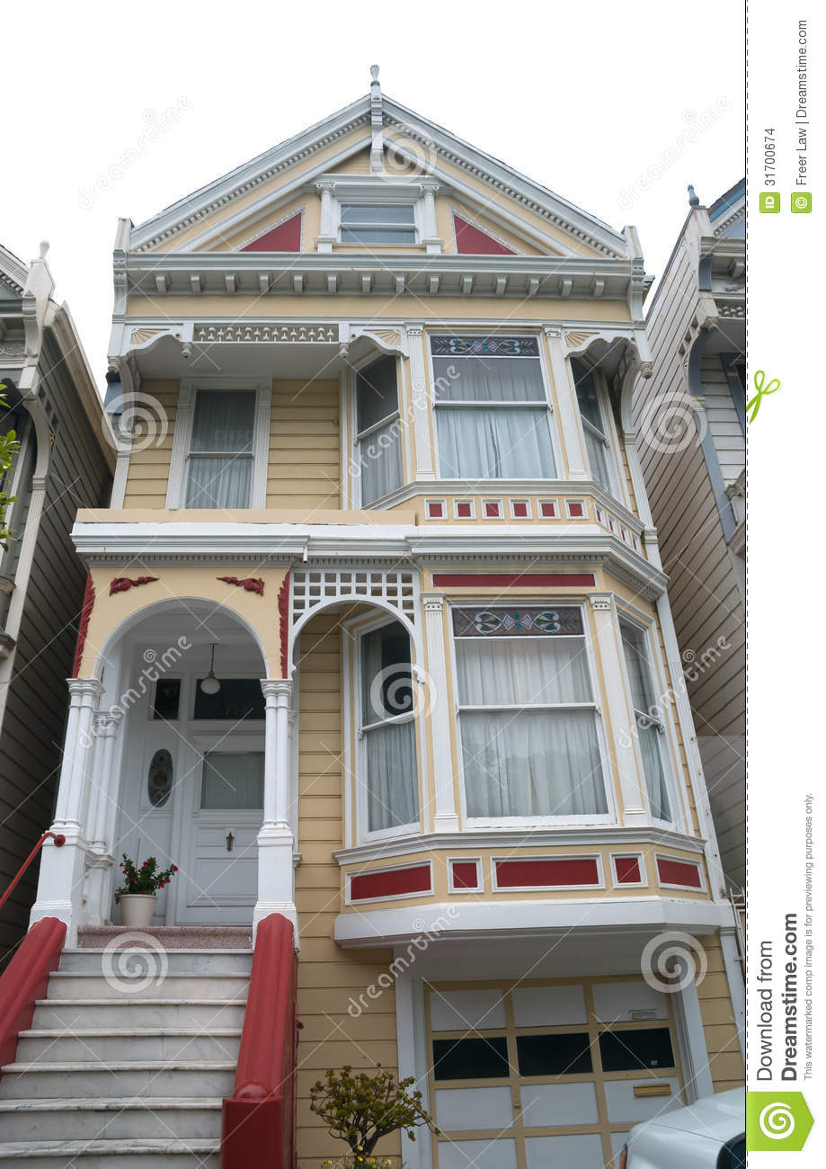 Historic victorian home stock photo image of francisco for Acheter maison usa californie