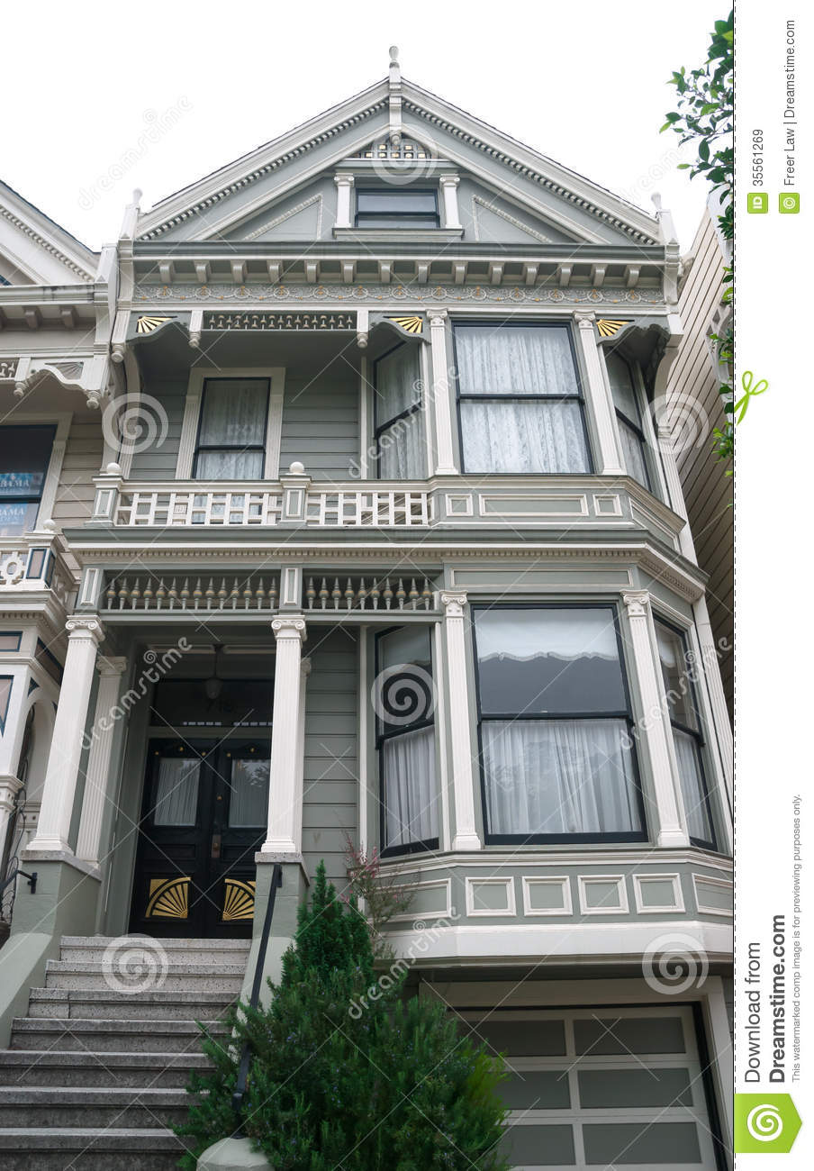 Historic Victorian Home In San Francisco Stock Image